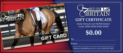 Bit of Britain Gift Certificate - Dressage