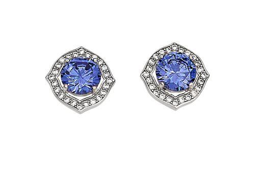 Kelly Herd Accents Earrings - Sterling Silver/Blue