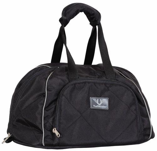 TuffRider Classic Equestrian Helmet Bag - Black/Silver
