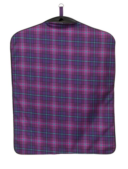 Centaur Lined Padded Garment Bag - Orchid Plaid