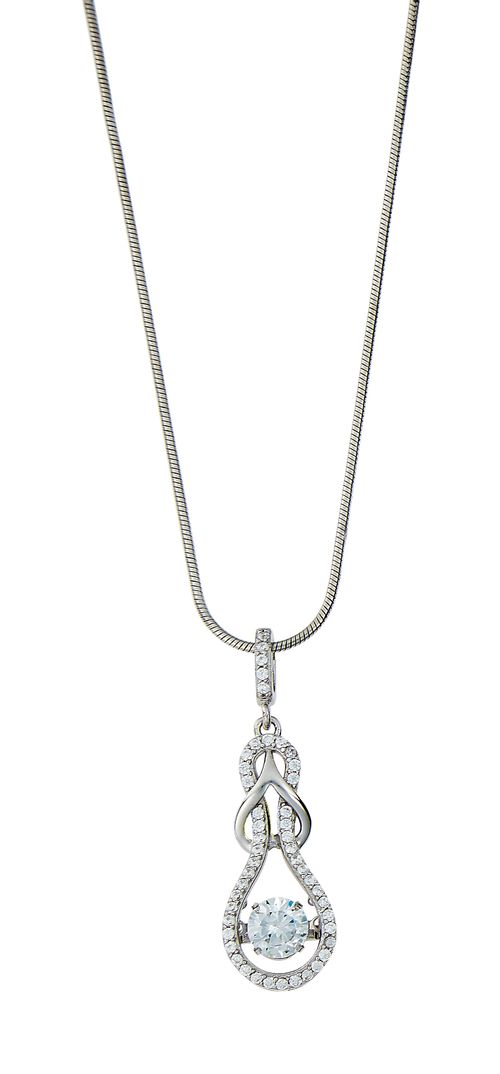 Kelly Herd Slip Knot Clear Necklace - Sterling Silver/Clear