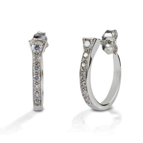 Kelly Herd Horseshoe Nail Earrings - Sterling Silver/Clear