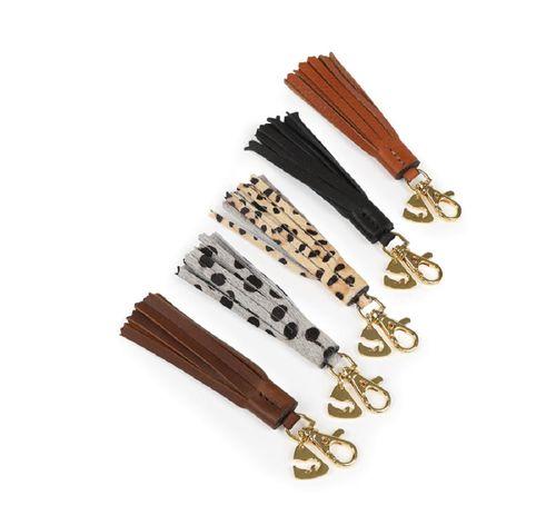 Aubrion Tassel Keyring - Leopard