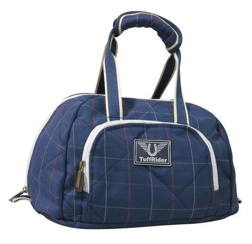 TuffRider Optimum Equestrian Helmet Bag - Ensign Blue Plaid