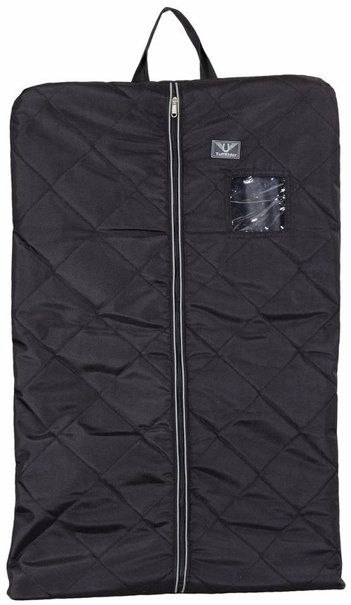 TuffRider Classic Equestrian Garment Bag - Black/Silver
