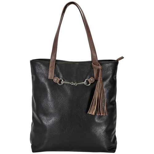 Kelley and Company Snaffle Bit with Tassel Tote Bag - Black