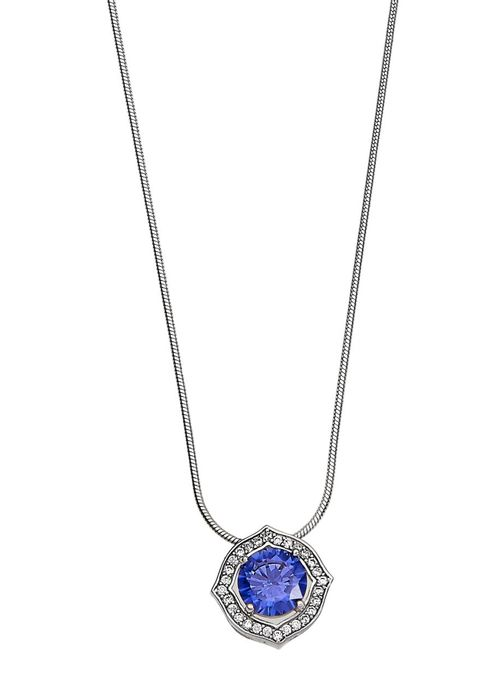 Kelly Herd Accents Necklace - Sterling Silver/Blue