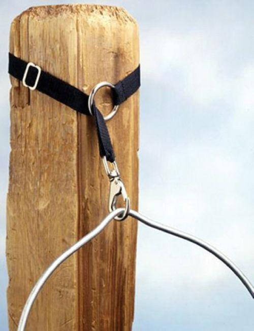 Shires Bucket Strap w/Trigger Hook - Black