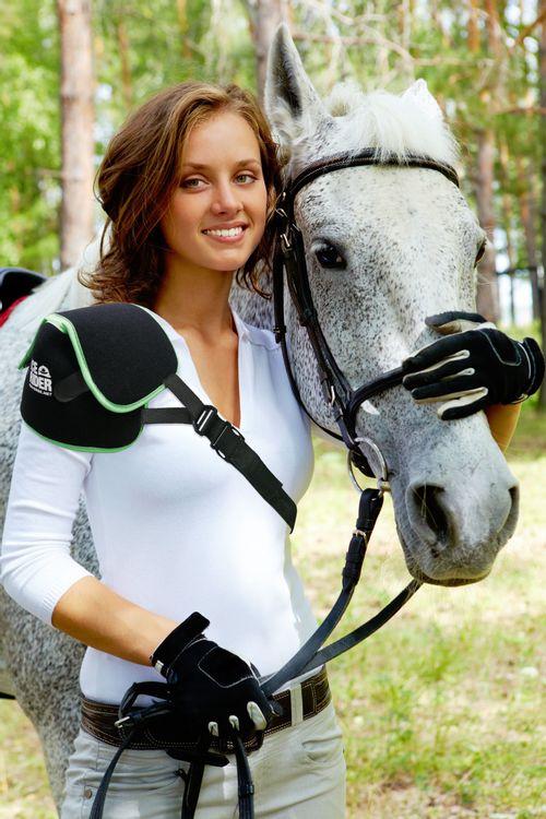 Ice Horse Ice Rider Shoulder Wrap - Black