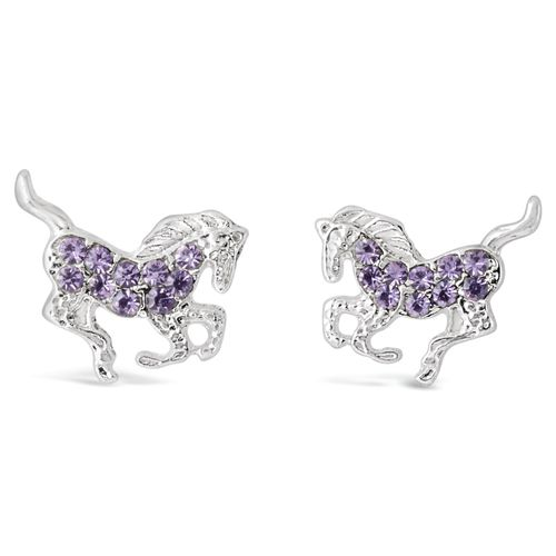 Kelley and Company Galloping Horse Earrings - Purple