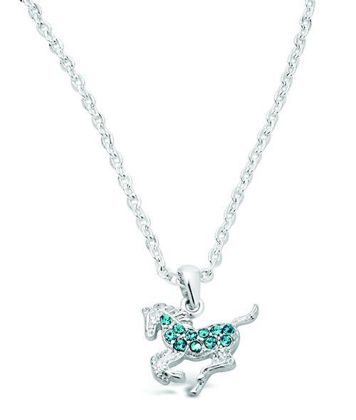 Kelley and Company Galloping Horse Necklace - Aqua