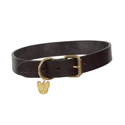 Digby & Fox Flat Leather Dog Collar - Brown