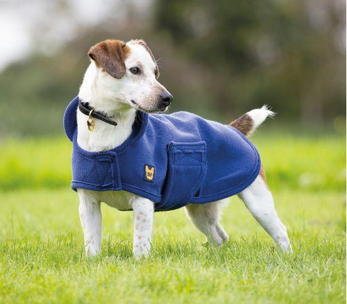 Digby & Fox Dog Towel Coat - Navy