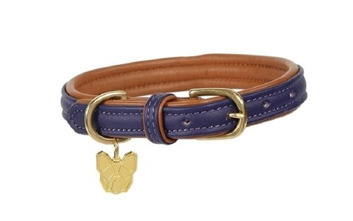 Digby & Fox Padded Leather Dog Collar - Purple