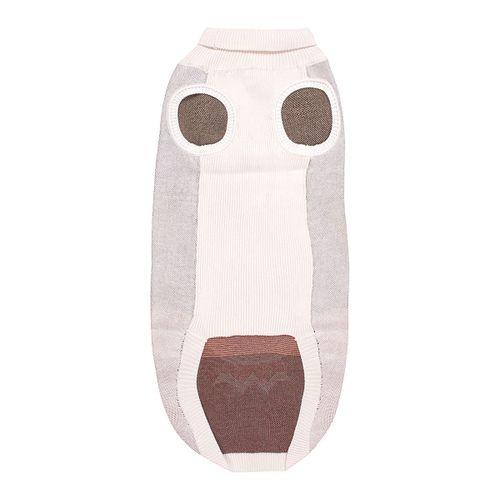 Halo Reindeer Dog Sweater - White