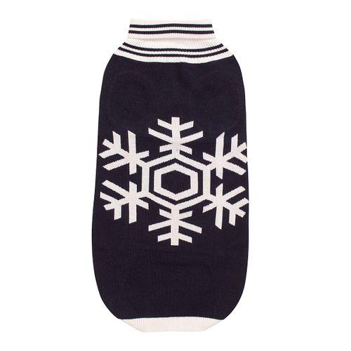 Halo Snowflake Dog Sweater - EC Navy