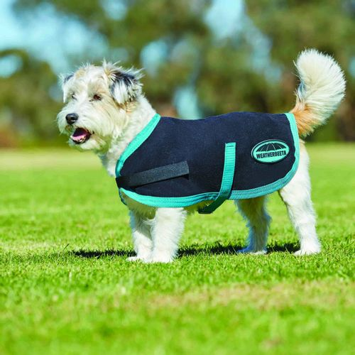 Weatherbeeta Comfitec Fleece Dog Coat - Black/Turquoise