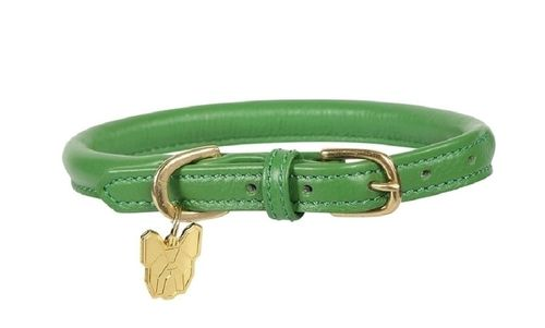 Digby & Fox Rolled Leather Dog Collar - Green