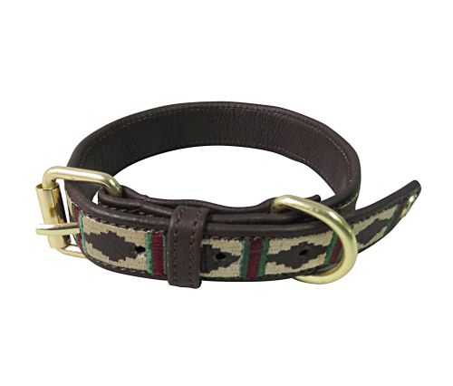 Halo Classic Leather Dog Collar - Brown/Burgundy/Hunter