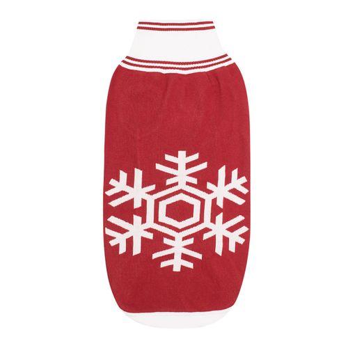Halo Snowflake Dog Sweater - EC Red