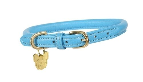 Digby & Fox Rolled Leather Dog Collar - Blue