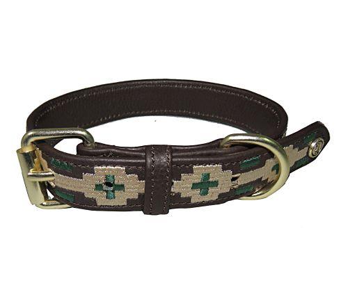 Halo Lex Leather Dog Collar - Brown/Safari/Hunter