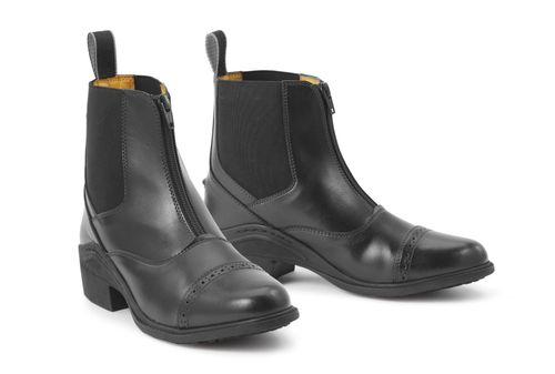Ovation Women's Synergy Front Zip Paddock Boot - Black