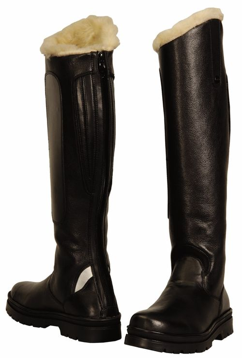 TuffRider Women's Tundra Fleece Lined Tall Boots in Synthetic Leather - Black