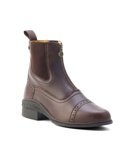 Ovation Women's Tuscany Zip Front Paddock Boot - Brown