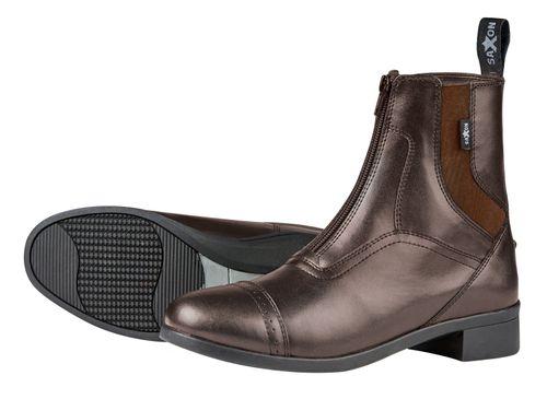 Saxon Kids' Syntovia Zip Paddock Boots - Brown