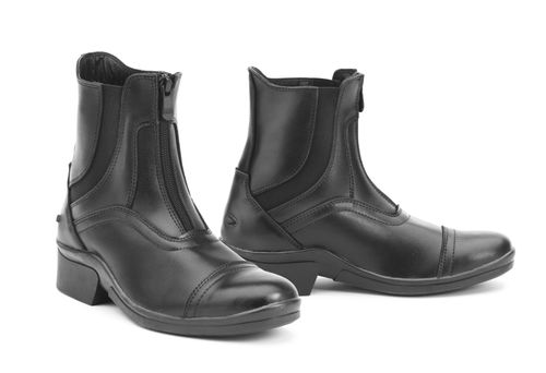 Ovation Women's Stratum Zip Front Paddock Boot - Black