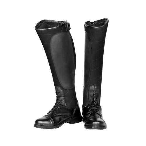TuffRider Women's Alpine Quilted Field Boots in Synthetic Leather - Black