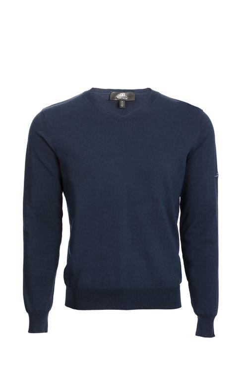 Alessandro Albanese Men's Classic Light Sweater - Navy