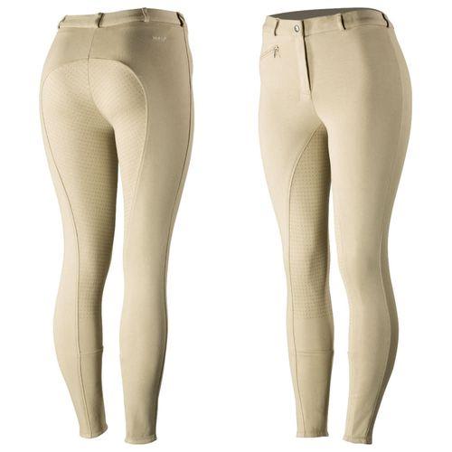 Horze Women's Active Full Seat Breeches - Tan