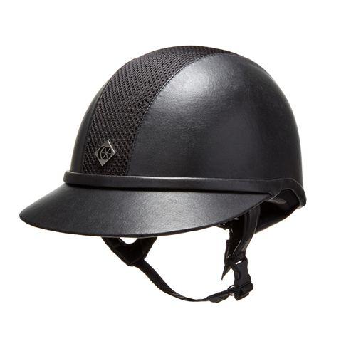 Charles Owen Leather Look SP8 Plus Helmet - All Black