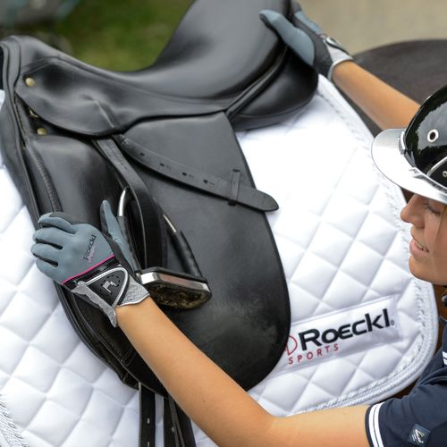 Roeckl Madrid Riding Gloves - Grey