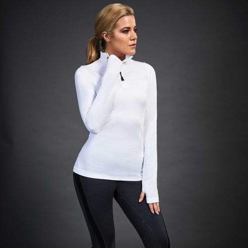 Dublin Black Women's Jenny Seamless Long Sleeve Competition Shirt - White