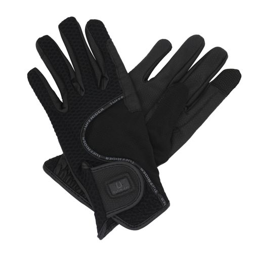 TuffRider Women's Honeycomb Smart Riding Gloves - Black