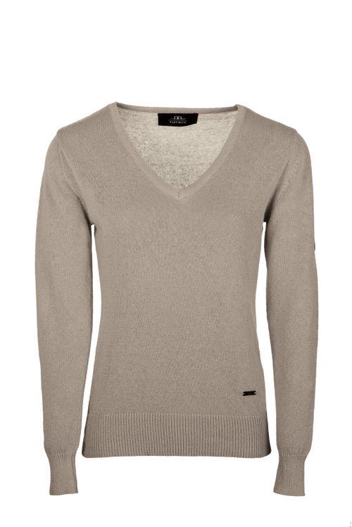Alessandro Albanese Women's Linen Sweater - Sandstone