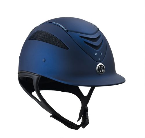One K Defender w/Swarovski Helmet - Blue w/Blue Stones