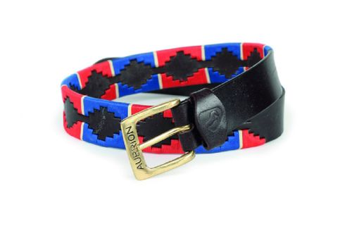 Aubrion Women's Drover Polo Belt - Navy/Red