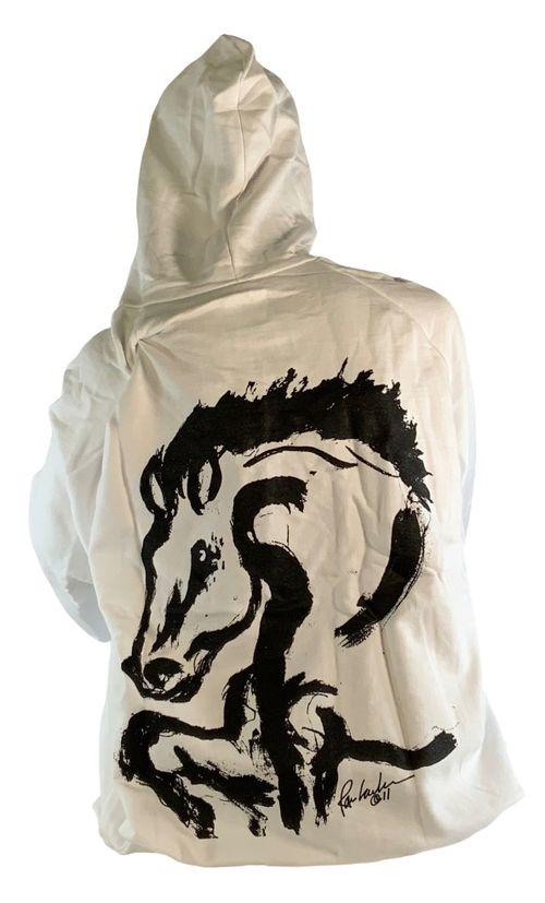 """Animals to Wear Women's """"Bolt"""" Hoodie - White"""