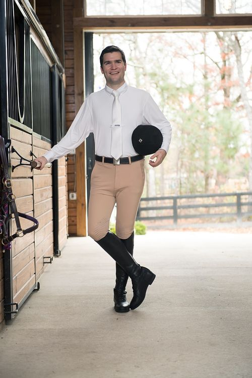 FITS Men's Hudson Knee Patch Breech - Brown
