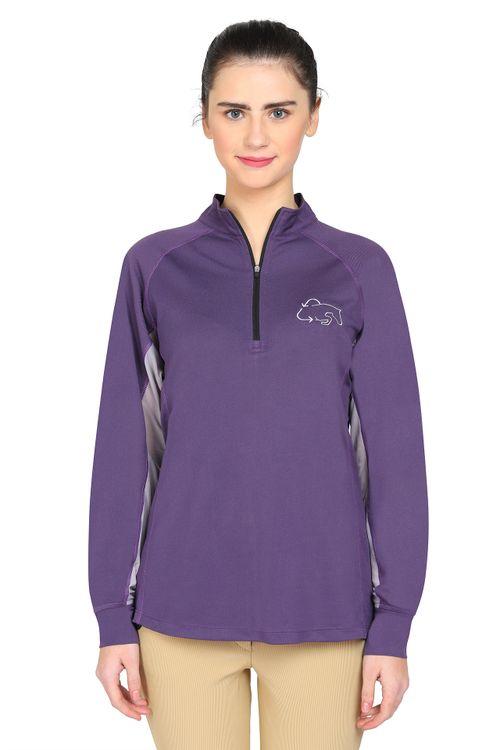 TuffRider Women's EcoRider Denali Sport Shirt - Purple Plum/Grey