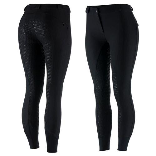 Horze Women's Elle Silicone Full Seat Breeches - Black