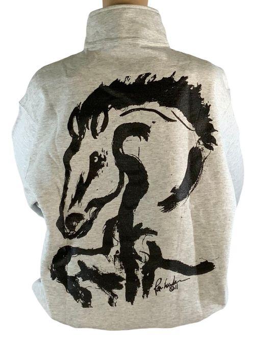 "Animals to Wear ""Bolt"" 1/4 Zip Sweatshirt - Light Grey"