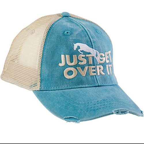 Kelley and Company Just Get Over It Mesh Back Cap - Teal/Tan