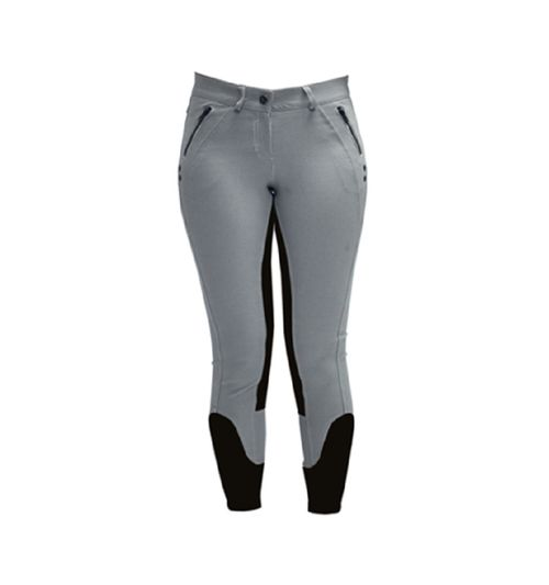 Horseware Women's Denim Full Seat Breeches - Grey Denim