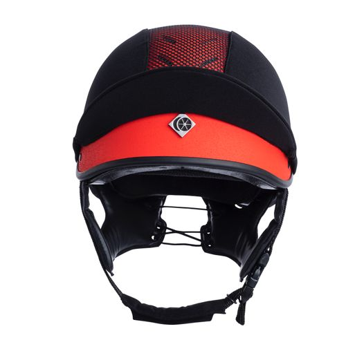 Charles Owen MS1 Pro Jockey Skull Helmet - Poppy