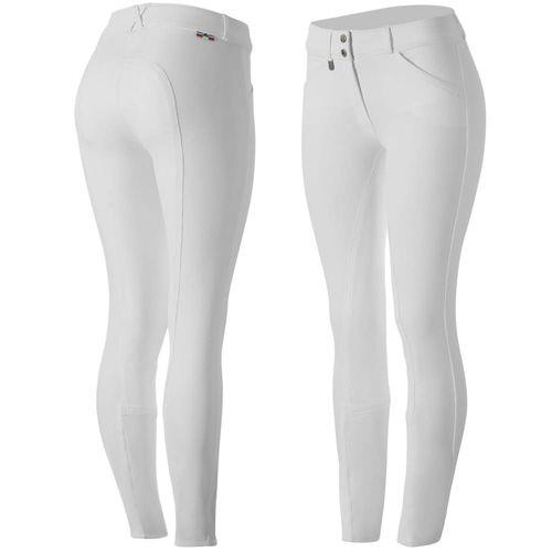 Horze Women's Grand Prix Full Seat Breeches - White